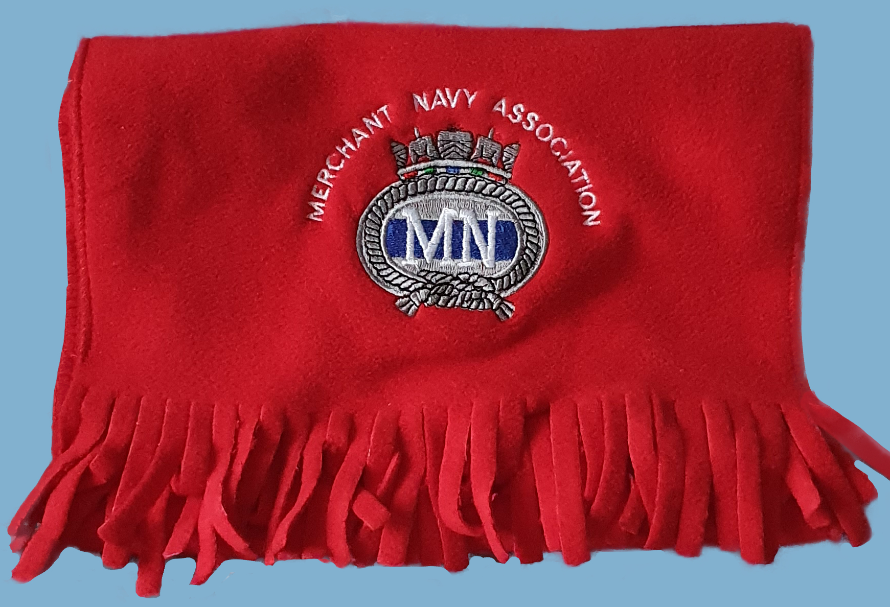 316a MNA Red fleece scarf