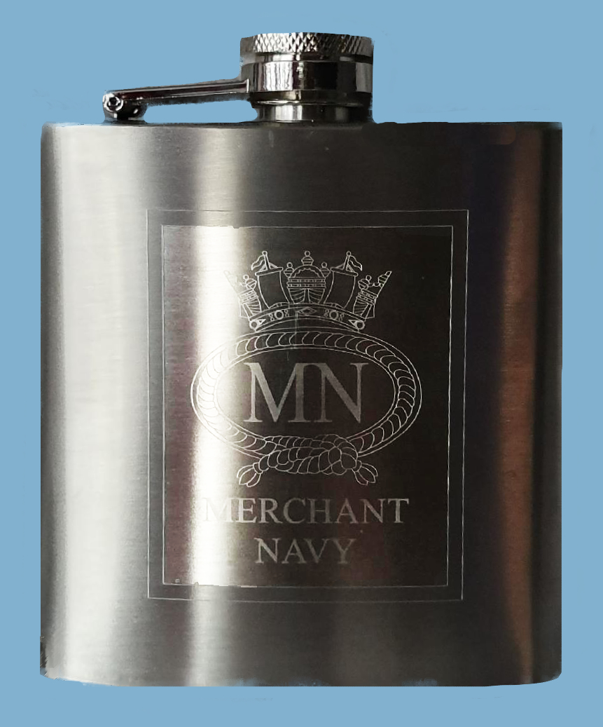 509a MN stainless steel 6oz hip flask