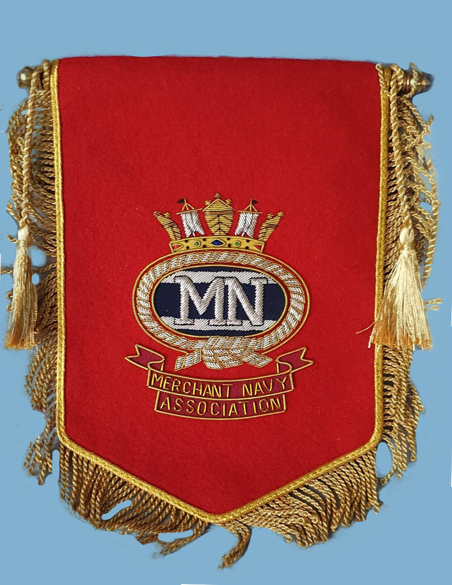 525a MNA red cloth pennant
